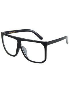 El Capítulo Grande Cuadrado Negro Gafas De Sol - Transparente