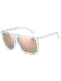 Big Quadrate Frame Transparent Sunglasses - Transparent