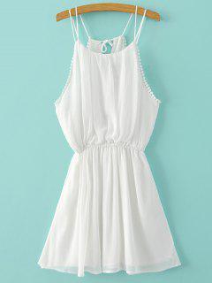 El Color Puro Del Vestido De La Gasa Cami - Blanco S