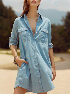 Deux Poches Bleu Clair Overshirt - Bleu Léger  L