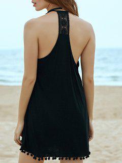 Crochet Splice Cami Dress - Black S