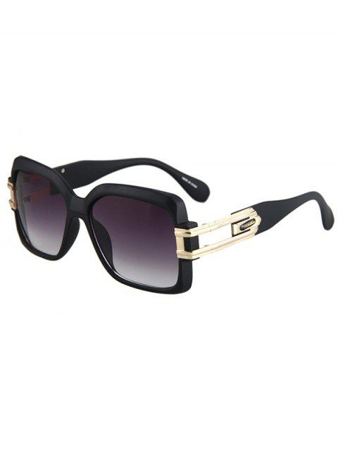women's Hollow Alloy Matte Black Sunglasses -   Mobile