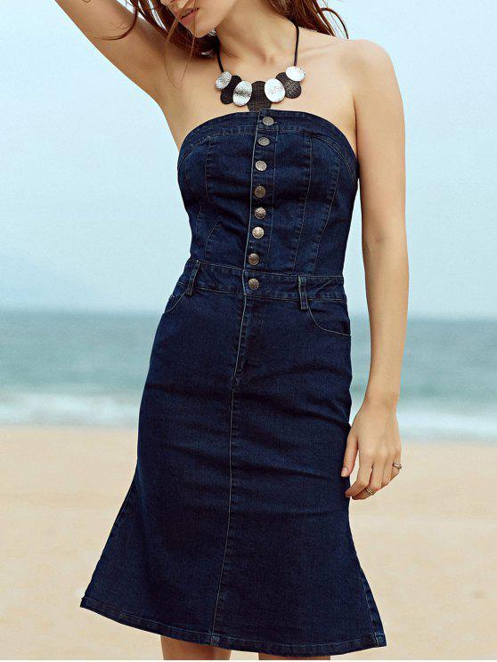 Solo pecho-sin tirantes vestido sin mangas de la sirena - Marina de Guerra S