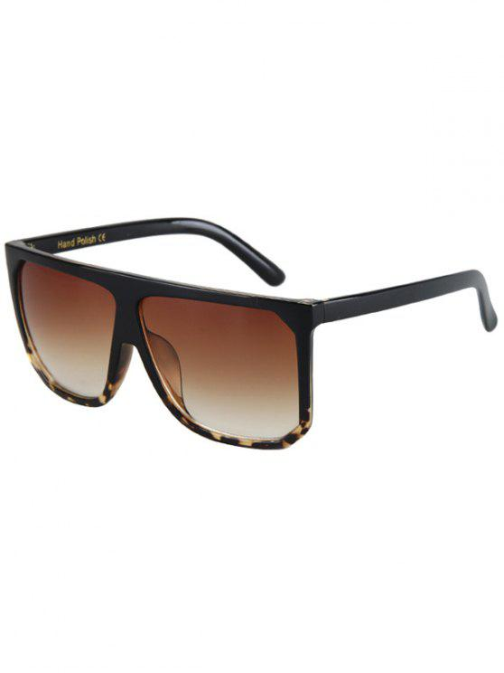 chic Leopard Pattern Match Quadrate Sunglasses - BLACK