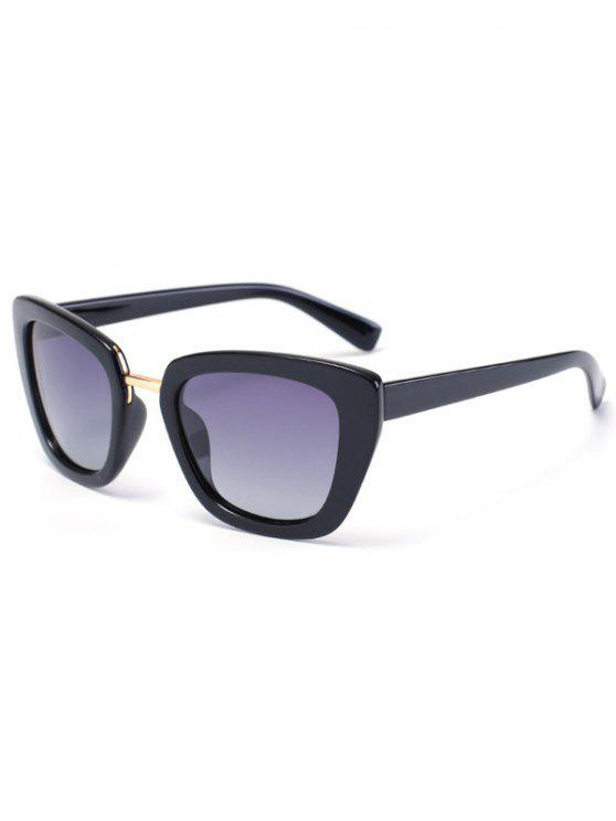Gafas de sol del marco de la mariposa - Negro