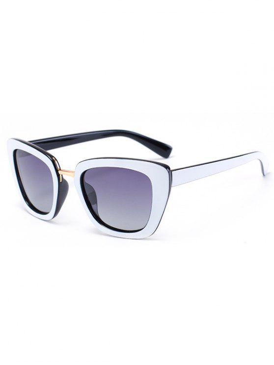 Armadura de Mariposa Bicolor partido gafas de sol - Negro