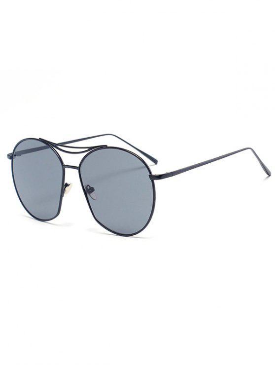 shop Black Irregular Frame Sunglasses - BLACK