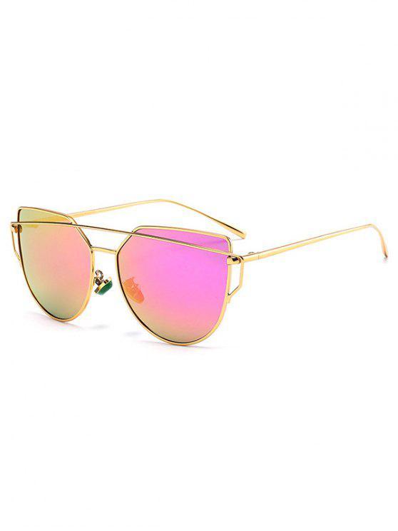 womens Faux Jade Irregular Sunglasses - GOLDEN