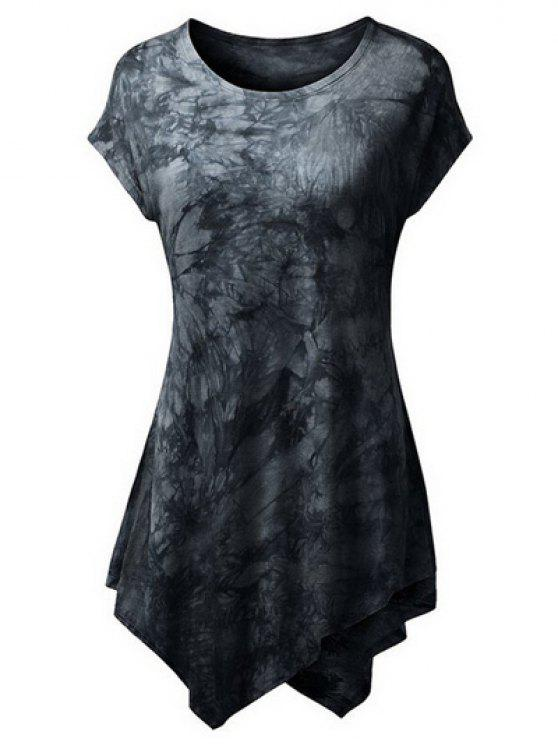 Teñido lazo Hankerchief la camiseta - Negro L