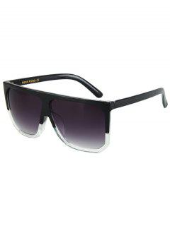 Bicolor Match Big Quadrate Frame Sunglasses - Black
