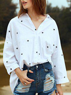 Chemise Blanche Brodée à La Broderie - Blanc L