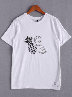 Fruta Impresión Blanca De La Camiseta - Blanco