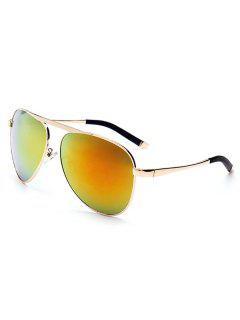 Anti UV Golden Sunglasses - Orange