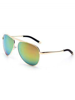 Anti UV Golden Sunglasses - Green