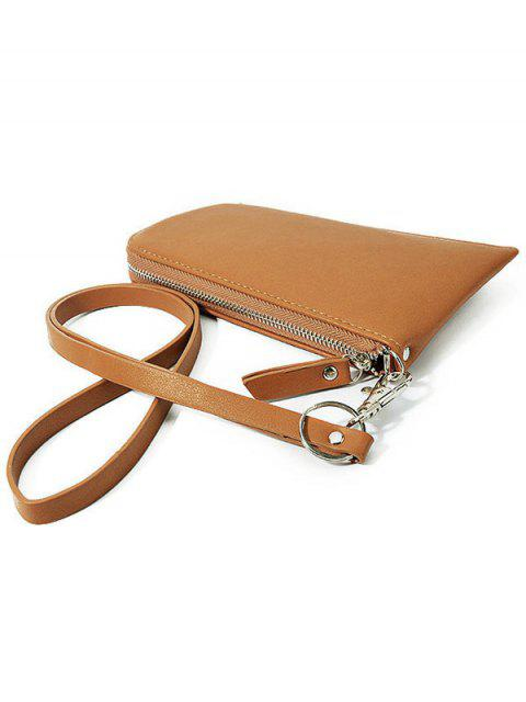 outfits Zip Solid Color PU Leather Coin Purse -   Mobile