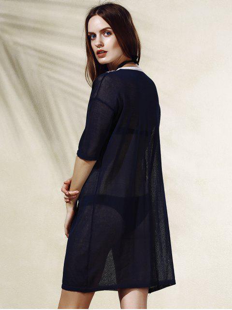 V-forme Stripe Robe en maille - Bleu Cadette Taille Unique(S'adap Mobile