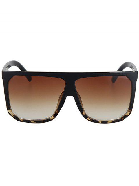 chic Leopard Pattern Match Quadrate Sunglasses - BLACK  Mobile