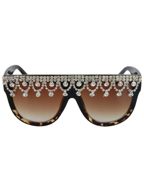 sale Rhinestone Pendant Fringed Leopard Match Sunglasses -   Mobile