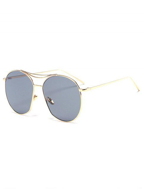 shops Golden Irregular Frame Sunglasses - BLACK  Mobile