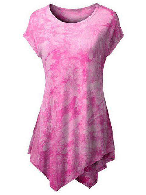 Tie Dyed Hankerchief T-shirt - ROSE PÂLE XL Mobile