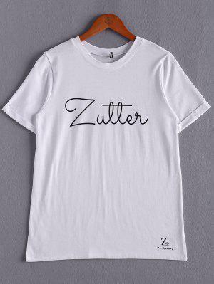 Letras Blancas De La Camiseta - Blanco