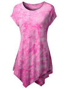 Teñido Lazo Hankerchief La Camiseta - Rosa Xl
