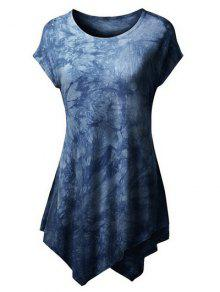 Tie Dyed Hankerchief T-Shirt - Deep Blue Xl