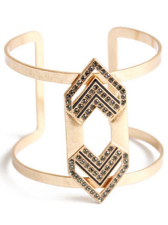 women Rhinestone Arrow Cuff Bracelet - GOLDEN