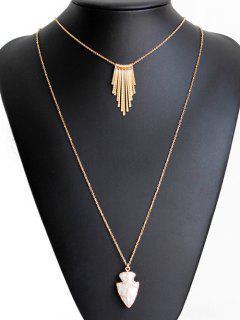 Tassel Shield Double Sweater Chains - Golden