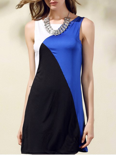sale Color Block Tank Dress - COLORMIX ONE SIZE(FIT SIZE XS TO M) Mobile