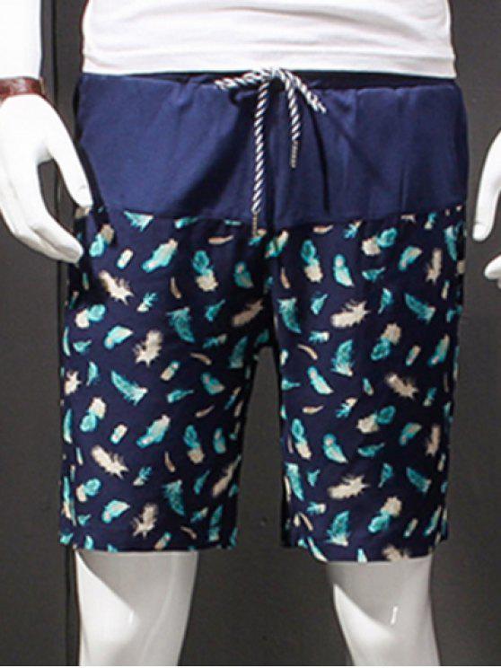Vendita calda gamba dritta stampa coulisse Shorts per gli uomini - colori misti XL