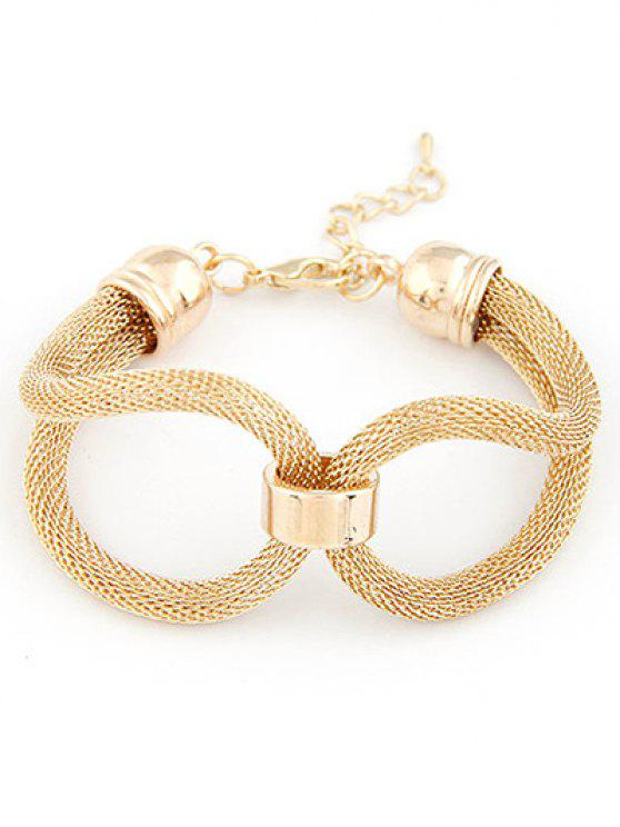 chic Hollow Out Infinite Bracelet - GOLDEN