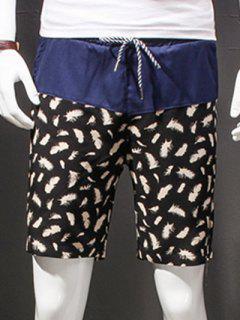 Drawstring Shorts Droites Jambe Impression Pour Les Hommes - Xl