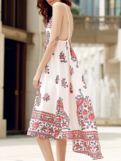 Open Back Breezy Summer Dress - Off-white Xl