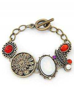 Blooming Flower Ethnic Style Bracelet - Copper Color