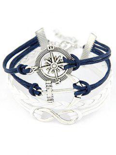 Infini Compass Anchor Bracelet - Bleu