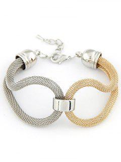 Bicolor évider Infini Bracelet - Argent