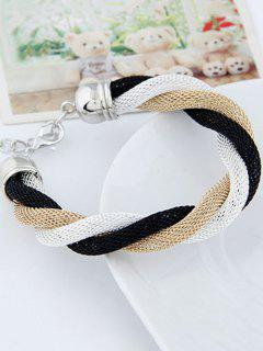 Three Color Match Twining Bracelet - White