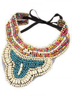 Bohemian Ethnic Style Beaded Necklace - Lake Blue