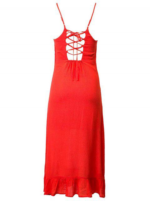 buy Lace Up Cami Flouncing Dress - JACINTH L Mobile