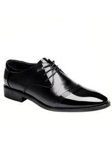 أنيق أسود اللون و الدانتيل متابعة تصميم الرسمي أحذية للرجال - أسود 42