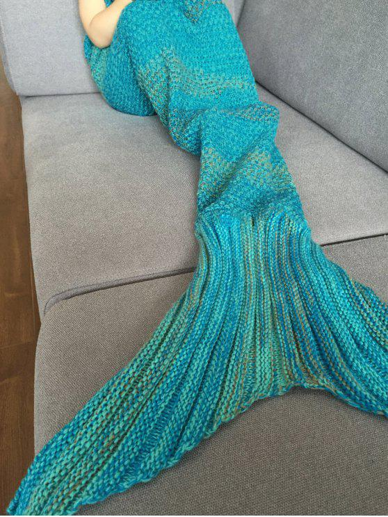 best Stripe Knitted Mermaid Tail Blanket - COLORMIX