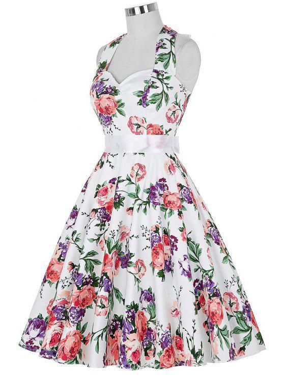 Completo cabestro vestido floral de la llamarada de la vendimia - Colormix S