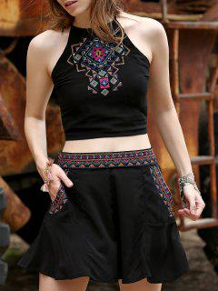 Cami Top Crop Y Pocket Pantalones Cortos - Negro S