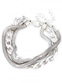 Punk Style Multilayered Bracelet - Silver