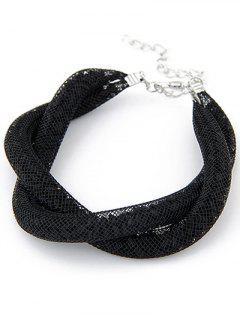 Black Mesh Beaded Bracelet - Black