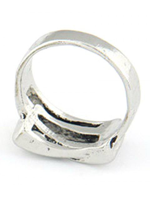 women's Personality Belt Buckle Ring - SILVER  Mobile