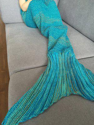 Couverture tricotée rayée forme de sirène