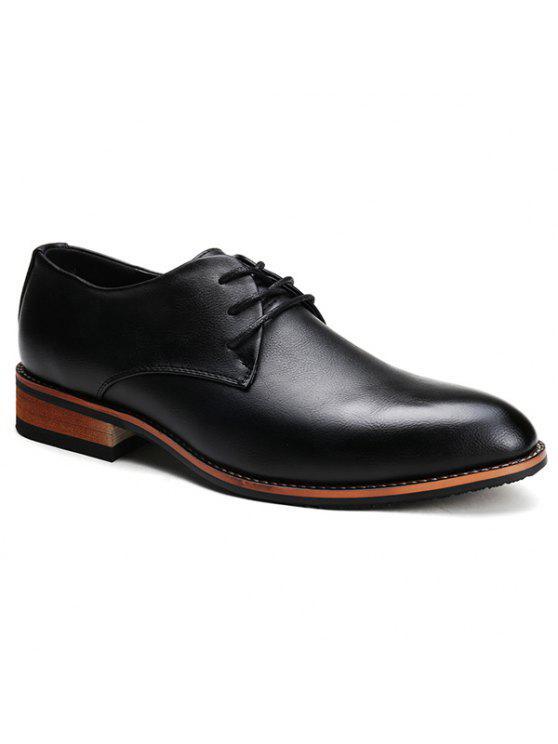 ريترو بلون و الدانتيل متابعة تصميم أحذية رسمية للرجال - أسود 40