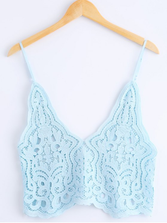 outfit Knitted Spaghetti Straps Tank Top - AZURE ONE SIZE(FIT SIZE XS TO M)